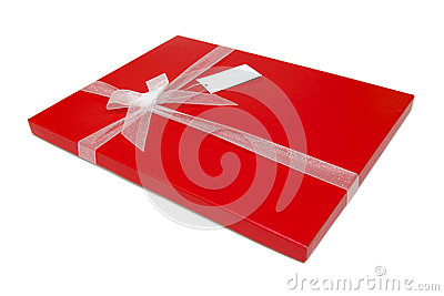Red gift box bow