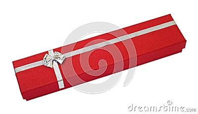 Red gift box cutout