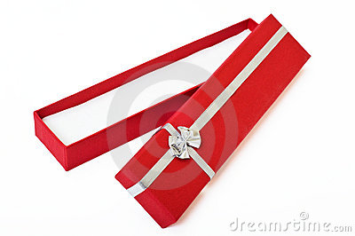 Red gift box open cutout