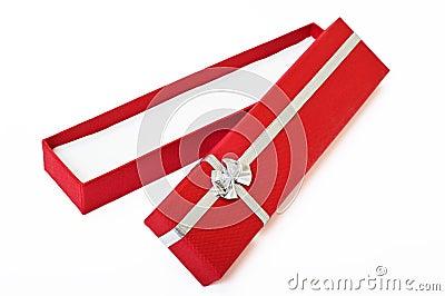 Red gift box open cutout