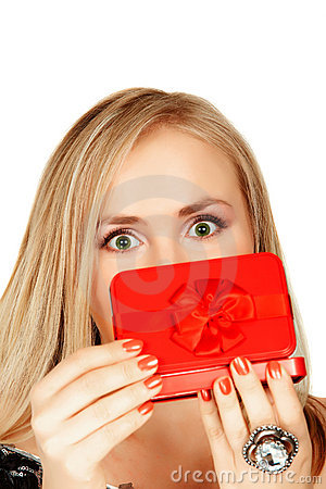 Red gift box surprise