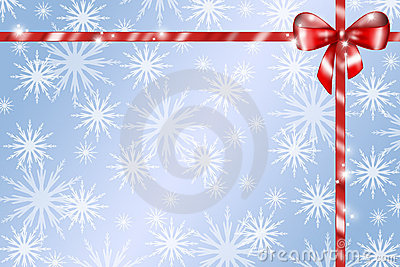 Red gift ribbon background