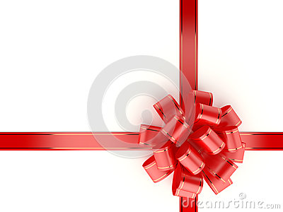 Red Gift Ribbon and Bow