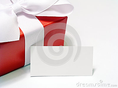 Red Gift with Tag