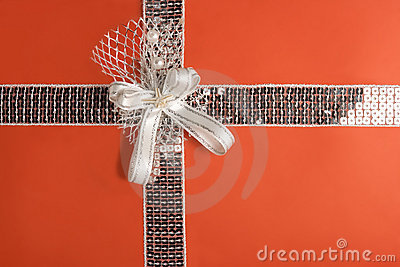 Red gift wrapping (with clipping path)