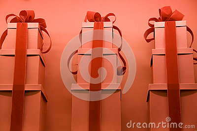 Red gift wraps
