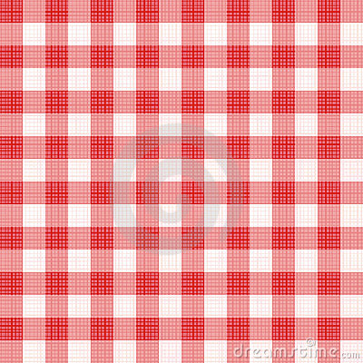 Red gingham repeat pattern