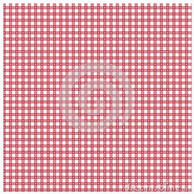 Red gingham with star pattern
