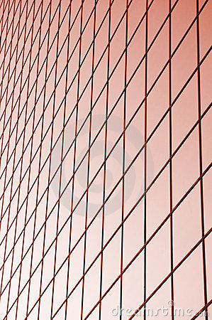 Red glass grid