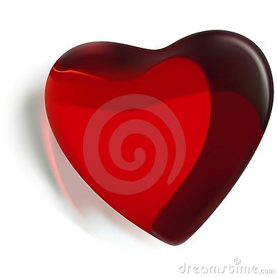 Free Red Glass Heart 02 Stock Photo - 2478070