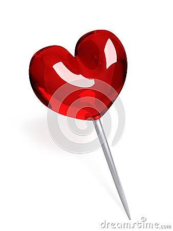 Free Red Glass Push Pin Royalty Free Stock Image - 28220396