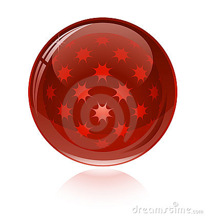 Red glossy abstract sphere