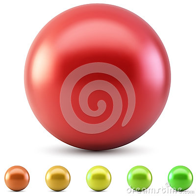 Free Red Glossy Ball Stock Images - 33172584