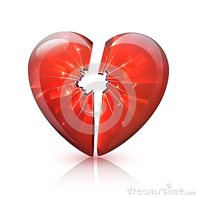 Free Red Glossy Broken Glass Heart Icon Royalty Free Stock Photo - 67783775