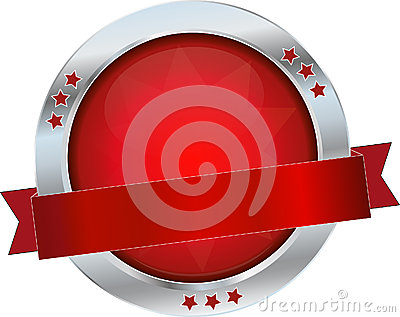Red glossy button