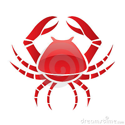 Red glossy crab