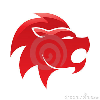 Red glossy lion
