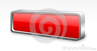 Red glossy metal button