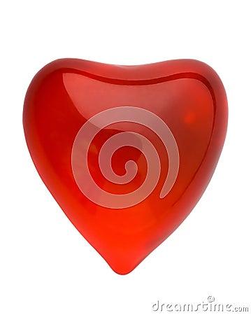 Red glowing valentine heart cu