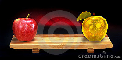 Red and Gold apples