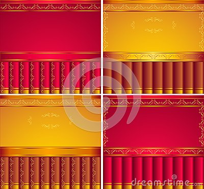 Red,  Gold, Brown  backgrounds