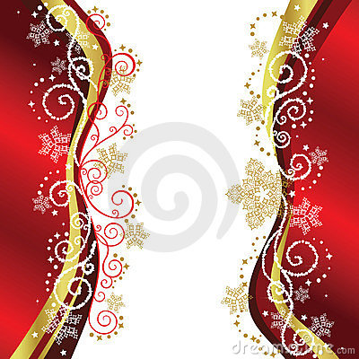 Free Red & Gold Christmas Border Designs Royalty Free Stock Photo - 11923445