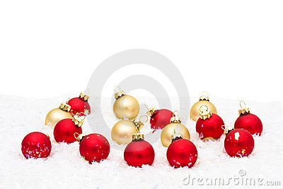 Red and Gold Glass Balls