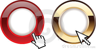 Red Gold Glow Rings Computer Cursors