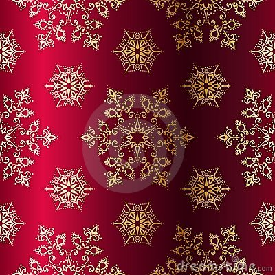 Red-and-Gold seamless Christmas background
