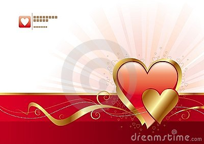 Red and gold Valentines