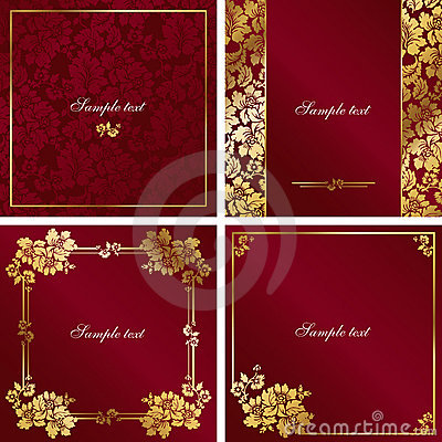 Red and gold vintage frame