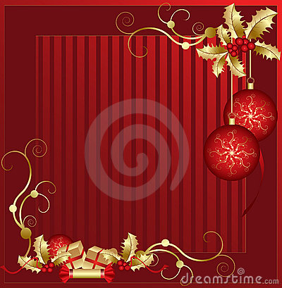 Red and Gold Xmas Decorations