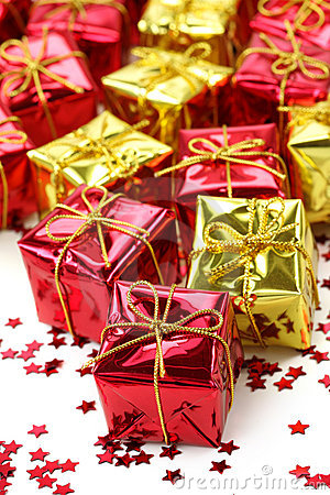 Red and golden gifts