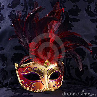 Red and golden mask (Venice)
