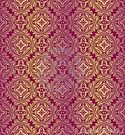 Red golden pattern
