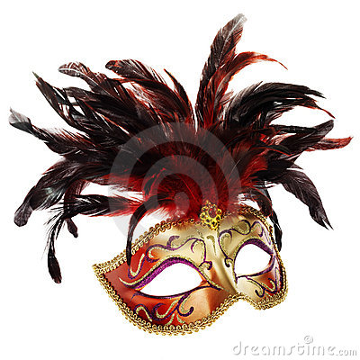 Red and golden venetian mask