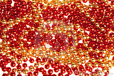 Red and golden volumetric decoration texture