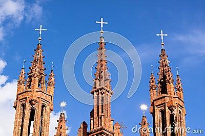 Red gothic church