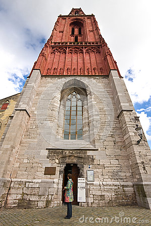 Free Red Gothic Churchtower Stock Photo - 27355430