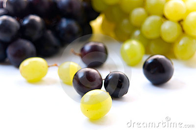 Red grape and white grape
