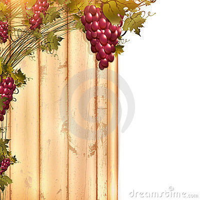 Red grape at wooden fence