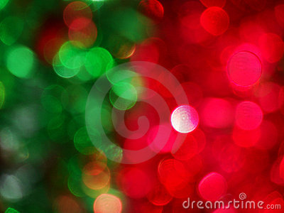 Red Green Abstract Christmas B