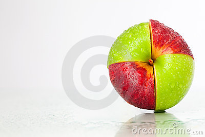 Red-green apple