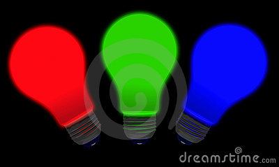 Red Green Blue Bulbs