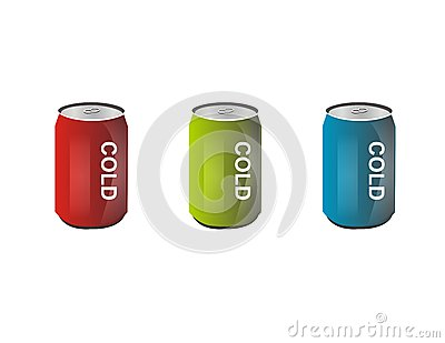 Red green blue cold can