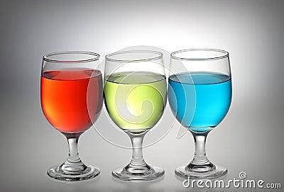 Red, green, blue liquid