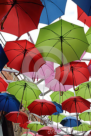 Free Red Green Blue Umbrellas For Sale Royalty Free Stock Photos - 32890128