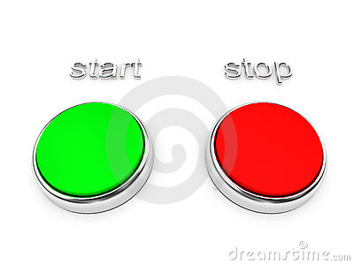 Red and green buttons over white