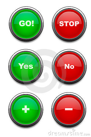 Red & Green buttons (Vector)