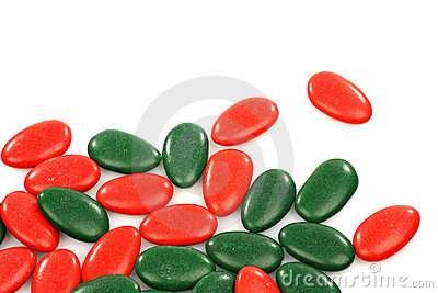 Red and green christmas sweets